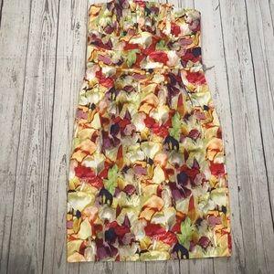 Newport News strapless floral dress size 8P NWT